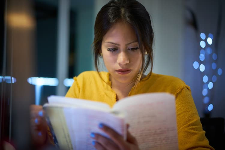 Woman Studying For TST